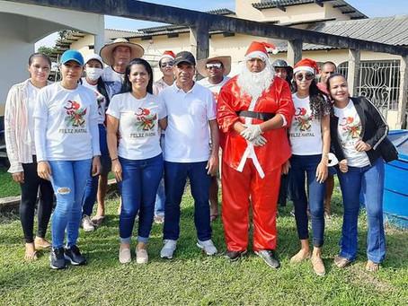 Prefeitura de Rodrigues Alves entrega presentes para as crianças no natal e encerra atividades