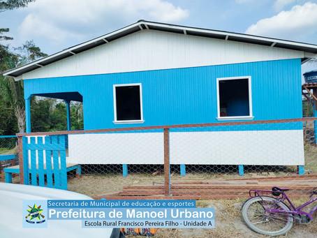 Gestão do Prefeito Tanízio Sá finaliza a construção da escola rural Pereira Filho