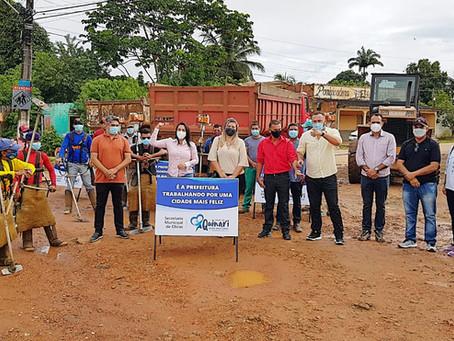 Prefeita Rosana Gomes inicia programação de Mutirão da Limpeza em Senador Guiomard