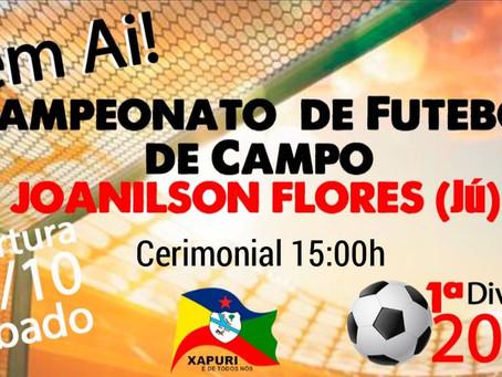 Prefeitura dá início ao Campeonato Municipal de Futebol 2021 Joanilson Flores (Jú)