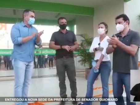 Prefeito André Maia reinaugura a prefeitura de Senador Guiomard que passou por uma reforma geral