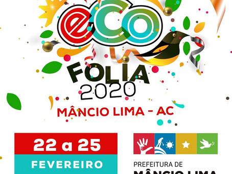 Estamos apresentando a todos vocês a logomarca para identidade do Carnaval de Mâncio Lima 2020