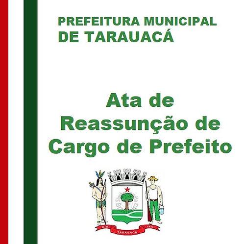 Ata de Reassunção de Cargo de Prefeito 04/11/2019