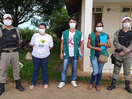 Equipe da Saúde garante apoio da Policia Militar para reforça orientação à prevenção da Covid-19