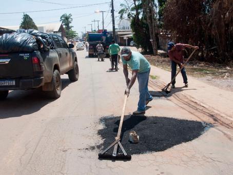 No sábado, Prefeitura intensifica operação tapa buraco em Bujari com apoio do Governo do Estado