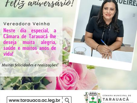 Câmara de Tarauacá parabeniza a vereadora Veinha