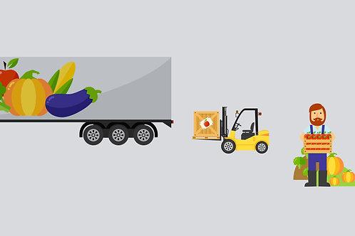 Transporte de insumos e implementos agrícolas