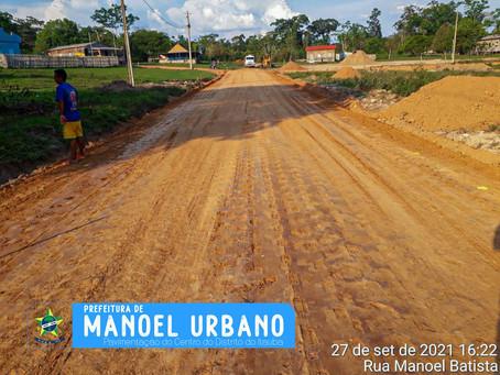 Distrito do Itaúba na área rural de Manoel Urbano vai receber pavimentação