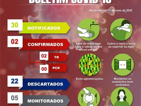 Prefeitura de Mâncio Lima lança boletim desta segunda-feira,11
