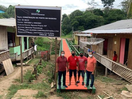 Concluídos os trabalho de construção da ponte da colônia de pescadores