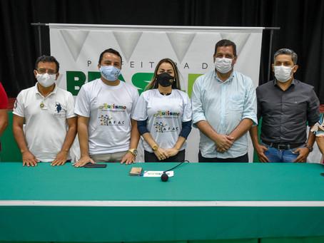 Prefeita Fernanda Hassem e Major Rocha discutem parcerias para implantação do Centrin para Brasileia