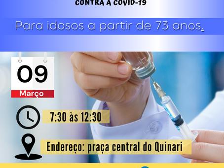Vacinação de Senador Guiomard contra a Covid-19
