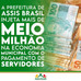 Prefeitura paga salário dos servidores e injeta quase 600 mil na economia local