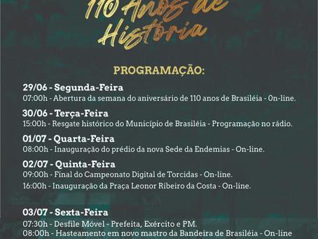 Salve salve Brasileia! Está aberta a nossa programação on-line