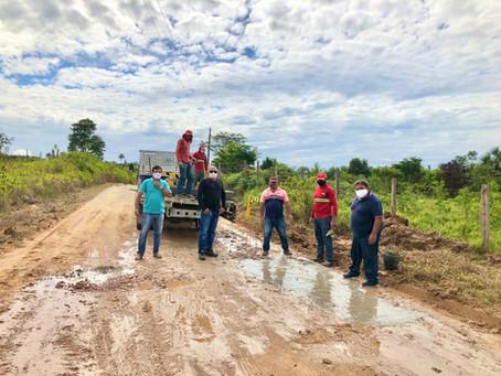 Prefeito Isaac Lima acompanha de perto os serviços realizados pela secretaria de obras