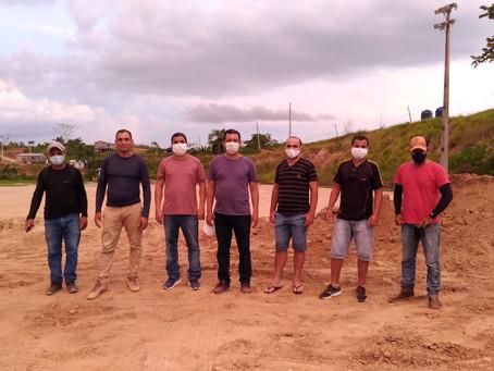 Vistoria nos trabalhos do estádio arena Thaumaturgo