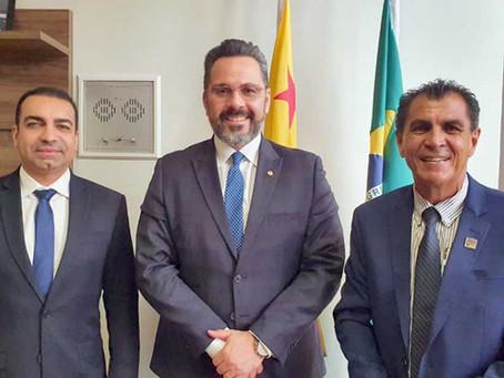 Prefeito garante recursos para Porto Acre e reivindica melhorias na Segurança Pública