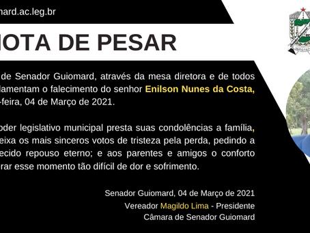 Nota de Pesar: Enilson Nunes da Costa