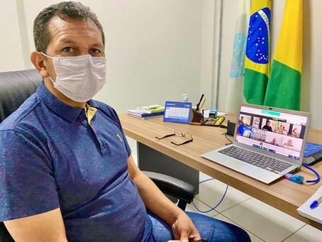 Prefeito Isaac Piyãko participa de reuniões de videoconferência com MP/AC