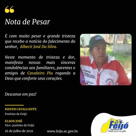 Nota de Pesar: Albecir José da Silva