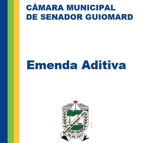 Emenda Aditiva a Lei 01/2021