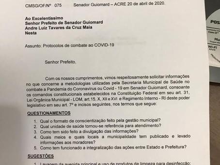 Legislativo encaminha ofício com sugestão ao prefeito André Maia e pede esclarecimentos