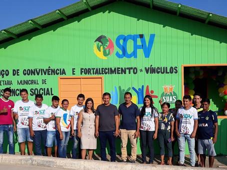 Prefeito Isaac Piyãko entrega mais uma benfeitoria á comunidade thaumaturguense -reinaugura o SCFV