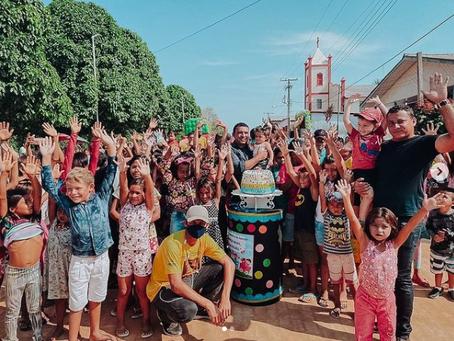Prefeito celebra o dia das crianças em Jordão e faz a festa da criançada com apoio de voluntários