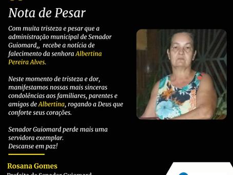 Nota de Pesar: Albertina Pereira Alves