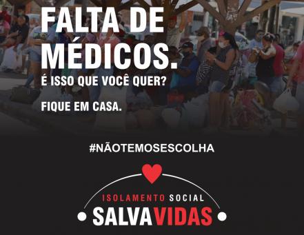 "Prefeitura compartilha campanha do Ministério Público Acreano ""Isolamento Social Salva Vidas"""