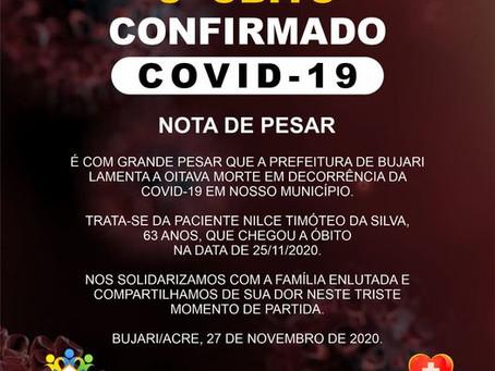 8° Óbito em Decorrência da Covid-19 em nosso município