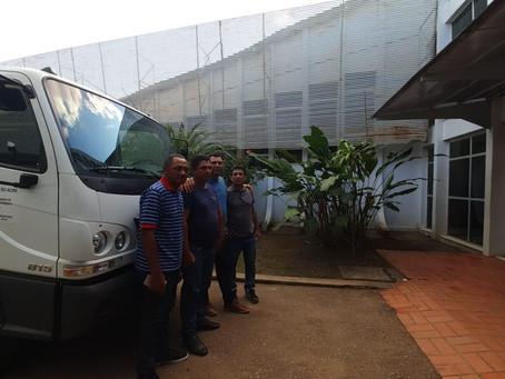Vereador Radamés participa de entrega de novo caminhão para atender o ramal do Manoel do Rádio