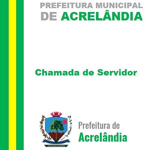 Chamada de Servidor (a) - Elizangela Belmont da Silva