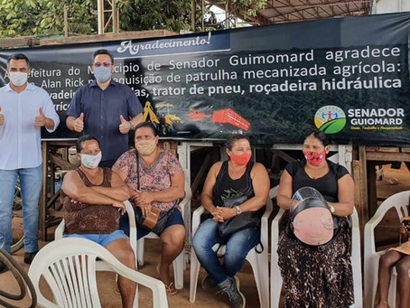 Deputado Alan Rick entrega patrulha mecanizada agrícola ao Prefeito André Maia