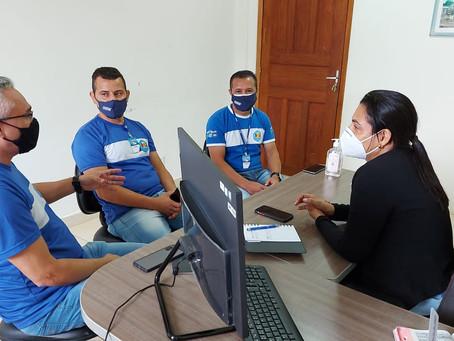 Rosana Gomes recebe representantes da Gazin para falar sobre a instalação de um novo empreendimento