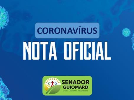 Prefeitura de Senador Guiomard vem a público esclarecer algumas informações sobre os casos COVID-19