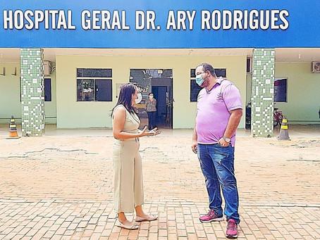 Prefeita Rosana Gomes viabiliza parceria com Hospital Ary Rodrigues para melhorar atendimento