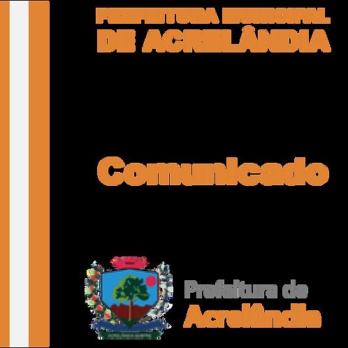 Comunicado - MARIA DO SOCORRO TEIXEIRA DOS SANTOS