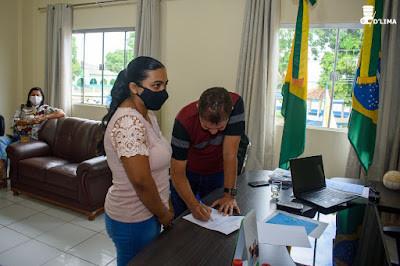 Prefeito Kiefer Cavalcante empossa 28 estagiários no serviço público municipal feijoense