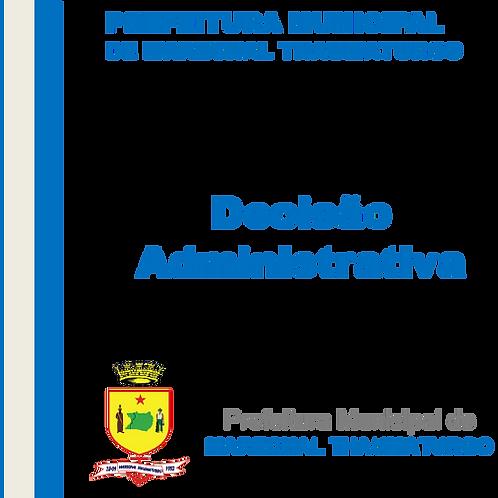 Decisão Administrativa - empresa M. D. CONSTRUÇÃO E SERVIÇOS LTDA