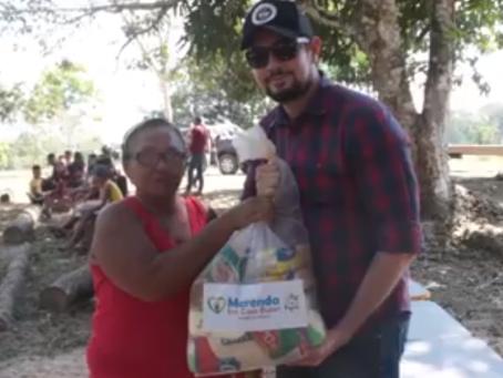 Merenda em casa Bujari entrega kits de alimentação aos alunos do Antimary e ramal Espinhara