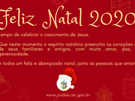 Prefeitura de Jordão deseja um Feliz Natal 2020