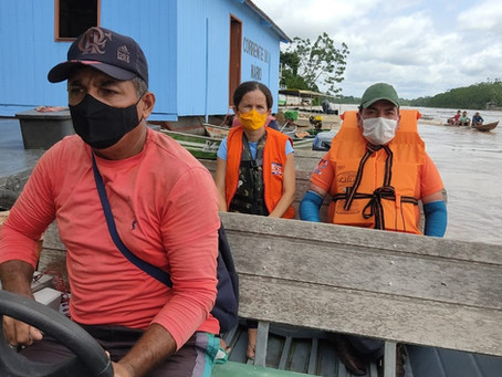 Prefeitura de Marechal Thaumaturgo acompanha de perto situação das famílias desabrigadas pela cheia