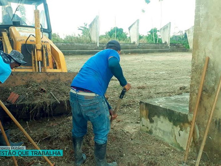 Prefeitura realiza mutirão de limpeza no quilômetro dezesseis