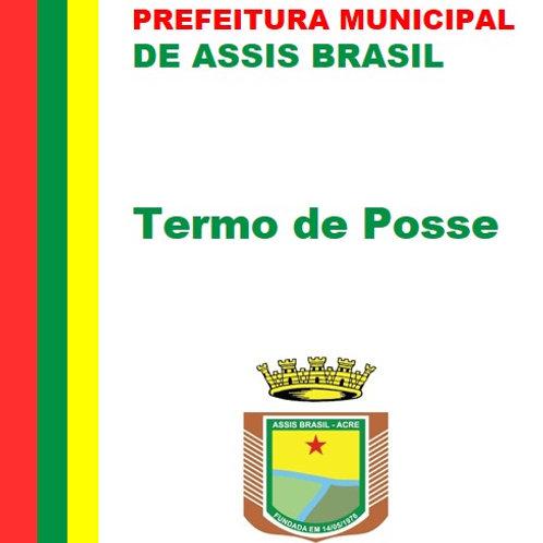 Termo de Posse - Prefeito e Vice-Prefeito 2021-2024