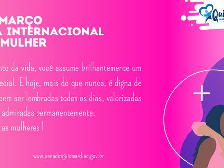 Prefeitura parabeniza as mulheres nesta data especial, feliz 8 de março