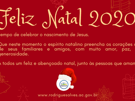Prefeitura de Rodrigues Alves deseja um Feliz Natal 2020