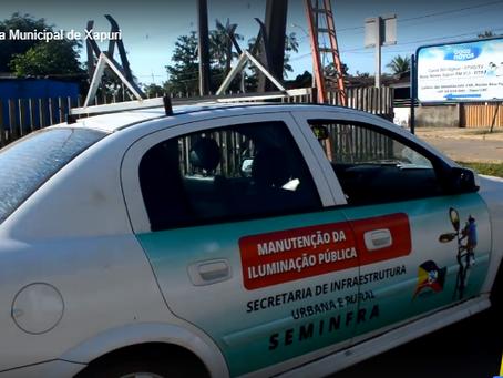 Prefeitura realiza recuperação da iluminação pública em vários pontos do município