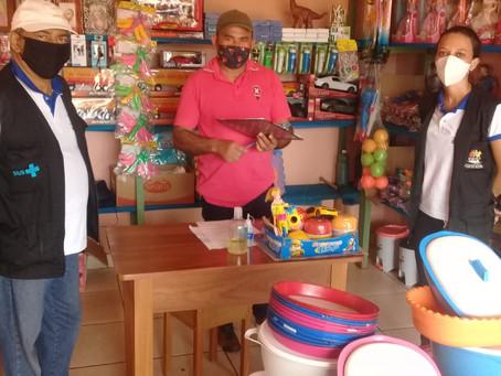 Vigilância sanitária fiscaliza cumprimento dos decretos nos comércios da vila do V