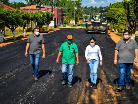 Prefeitura de Brasileia avança com pavimentação e infraestruturas de ruas